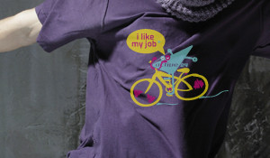 t-shirt A24 I like my job [bike]